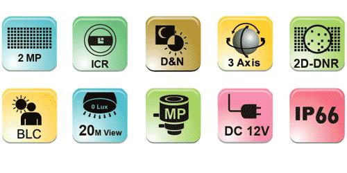 ahd güvenlik kamerası teknik özellikleri 2mp kamera
