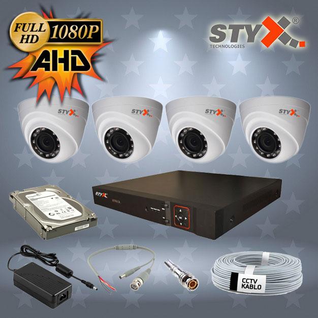 4 kamera ahd güvenlik kamera sistemi