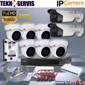 ip kamera sistemi iç ve dış mekan 8 kamera ip kamera