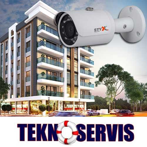 apartman güvenlik kamera sistemleri izleme ve kayıt